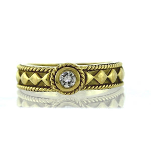 Vintage 14K Yellow Gold 0.10ctw Diamond Solitaire Engagement Ring- Sz. 6¾