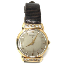 Load image into Gallery viewer, Vintage Baume & Mercier 14k Gold Diamond Automatic Watch Lizard Band
