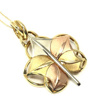 Load image into Gallery viewer, 14K Yellow / Rose / White Gold 585 Leaf Pendant Necklace
