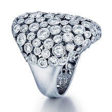 Load image into Gallery viewer, 18K White Gold 4.76ctw Fashion Diamond Cocktail Dome Ring - Sz. 6¼