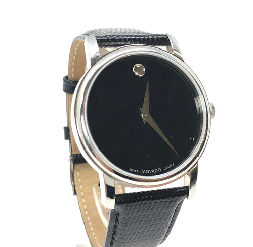 Movado 01.1.14.6000 Stainless Steel Leather Museum Watch