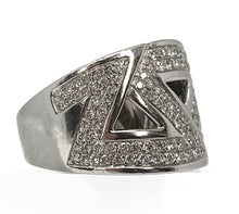 Load image into Gallery viewer, Geometric 18K White Gold & Diamond Ring - 2.00ctw