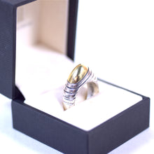 Load image into Gallery viewer, Cornelis Hollander Sterling Silver and 18 Karat Gold Tipped Ring
