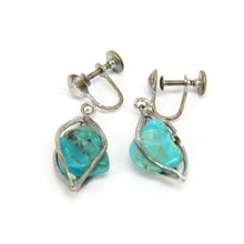Load image into Gallery viewer, 5 Sets of Native American Sterling Silver Earrings Kokopelli Turquoise