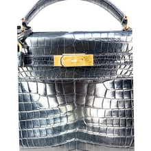 Load image into Gallery viewer, Hermes Vintage Porosus Crocodile Sellier Kelly 32 Gold Hardware