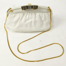 Load image into Gallery viewer, Finesse La Model Vintage White Snakeskin Clutch