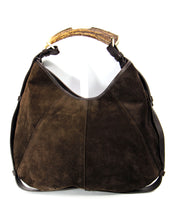 Load image into Gallery viewer, YSL 'Mombasa' Hobo Bag w/ Horn Handle & Mink Accents