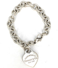 Load image into Gallery viewer, Tiffany & Co. Sterling Silver Return To Tiffany Heart Tag Bracelet