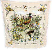 Load image into Gallery viewer, VINTAGE! Gucci Silk Wildlife Duck & Pheasant 1970s Scarf