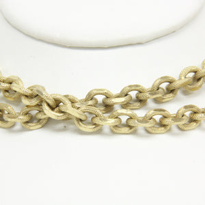 Whiting and Davis Mariner Chain Link Gold Electro Plated Necklace
