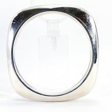 Load image into Gallery viewer, Tiffany & Co. VINTAGE Sterling Silver Square Shaped Knife Edge Heavy Bangle Bracelet