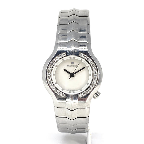 TAG Heuer Alter Ego WP1317.BA0751 - MOP Face & Diamond Bezel Watch - Women's