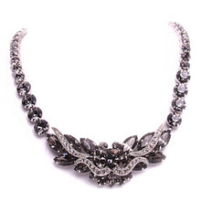 Load image into Gallery viewer, Weiss Rhodium Plated Silver Tone Costume Jewelry Set of Necklace Earrings and Bracelet