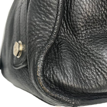 Load image into Gallery viewer, Chanel Black Grained Calfskin Bolt Bowler Bag