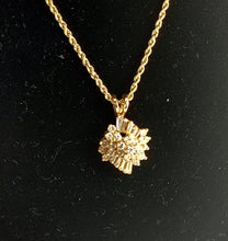 Load image into Gallery viewer, Gorgeous 14K Gold and Round Brilliant & Baguette Diamond Pendant Twisted Rope Necklace