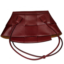 Load image into Gallery viewer, Bottega Veneta Arco Large Bordeaux Intrecciato Leather Bag