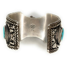 Load image into Gallery viewer, Old Pawn Navajo Mens Turquoise Sedona Watch Cuff Bracelet