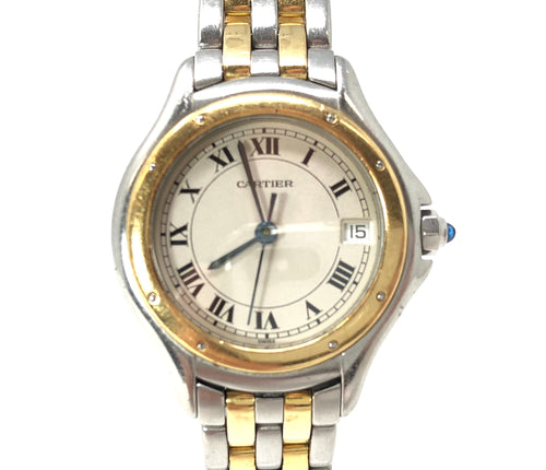 Cartier Cougar Solid Gold & Stainless Steel Quartz Watch 187906