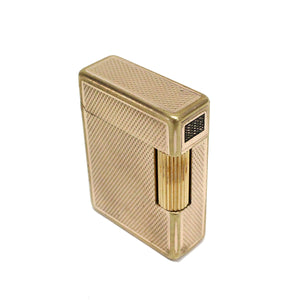Vintage S.T. Dupont Line 1 Gold Plated Grain D'orge Pattern Lighter AS9342