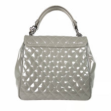 Load image into Gallery viewer, Chanel Gray Quilted Polished Calfskin Satchel