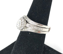 Load image into Gallery viewer, 14K White Gold 0.25ct Single Diamond w/ 0.60ct Diamonds Ladies Ring