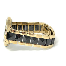 Load image into Gallery viewer, Anne Klein Women's Swarovski Crystal Accented Gold-Tone and Black Ceramic Pyramid Watch