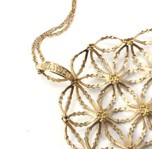 Load image into Gallery viewer, Estate 14K Yellow / White Gold Ornate Snowflake Pendant Necklace