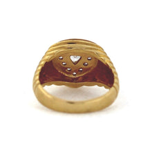 Load image into Gallery viewer, Gent's Trillion Shape Cluster Diamond Ring in 14K Gold - Sz. 8.5