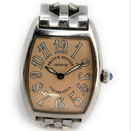 Franck Muller Casablanca Stainless Steel Salmon Dial Men's Watch