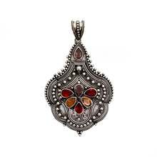 Load image into Gallery viewer, Sterling Silver with Multicolored Quartz Stones Pendant
