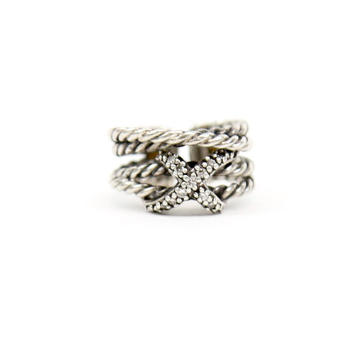 David Yurman Sterling Silver Diamond