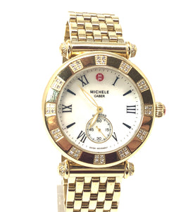 Michele 0.33ctw Diamond Caber Atlas Ladies Watch MW16A01H1025