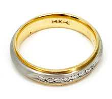 Load image into Gallery viewer, Men's Two-Tone 14KT Gold & Diamond Wedding Band - Sz. 10.25