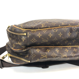 Louis Vuitton Alize 2 Poches with Lock Brown Weekend/Travel Bag