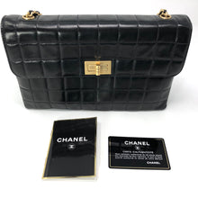 Load image into Gallery viewer, Chanel Black Square Quilted Chocolate Bar Mademoiselle Flap Bag