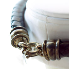 Load image into Gallery viewer, Barry Kieselstein Cord Sterling Silver & Large Thick Leather Frog Necklace