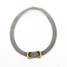 Load image into Gallery viewer, Hermès Sterling Silver and 18k Gold Buckle Necklace 16.5""
