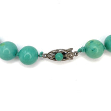 Load image into Gallery viewer, Vintage Chinese Natural Turquoise Bead Necklace