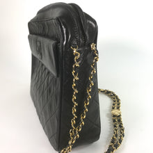 Load image into Gallery viewer, Chanel Vintage Black Quilted Lambskin Tassel Camera Bag
