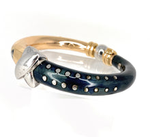 Load image into Gallery viewer, 18K LA NOUVELLE BAGUE Diamond & Enamel Bangle Bracelet