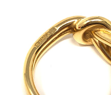 Load image into Gallery viewer, Hermes Gold Tone Woven Scarf Ring Size 9.75 In Box MHL