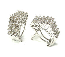 Load image into Gallery viewer, Estate 14K White Gold 1.60ctw Diamond Earrings