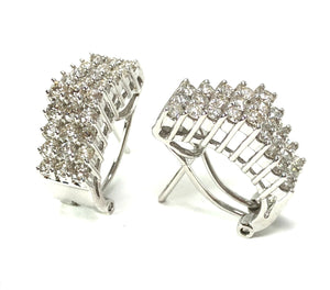 Estate 14K White Gold 1.60ctw Diamond Earrings