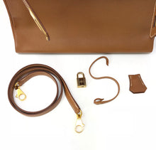 Load image into Gallery viewer, Hermes Vintage Gold Buffalo Leather 32 Kelly Bag