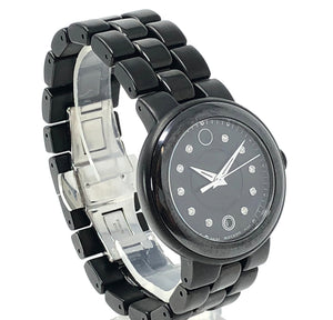 Movado Cerena Diamond Black Ceramic and PVD Ladies Watch 0606693