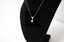 Load image into Gallery viewer, Pearl And Diamond Pendant Necklace w 14k White Gold Chain