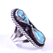Load image into Gallery viewer, TB Signed Sterling Silver Turquoise Jewelry Ladies Southwest Native American Style Ring