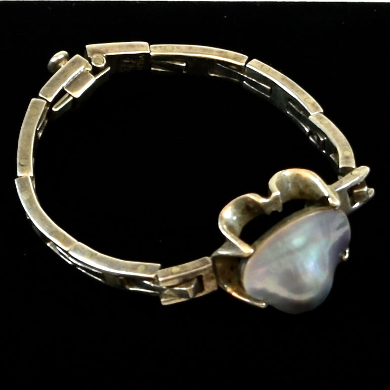 Mexico Sterling Albion Shell Bracelet
