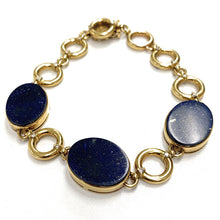 Load image into Gallery viewer, H. Stern 18K Yellow Gold Lapis Lazuli Diamond Link Bracelet