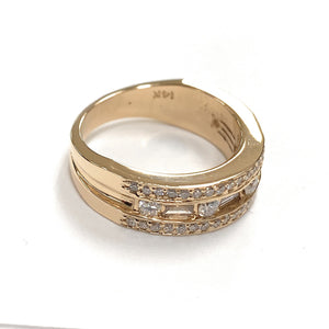 14K Yellow Gold Men's 1.00ctw 1/2 Eternity Diamond Wedding Ring - Sz. 7